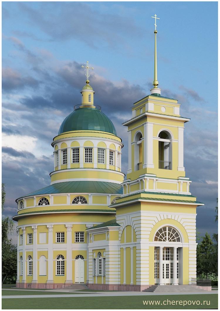Покровская церковь в Черепово. Электронный макет