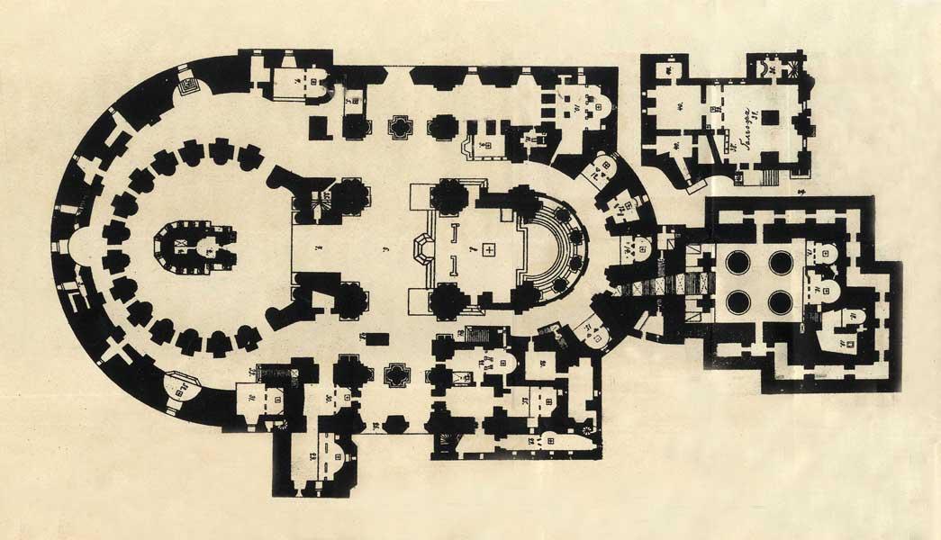 Воскресенский собор Новоиерусалимского монастыря. План